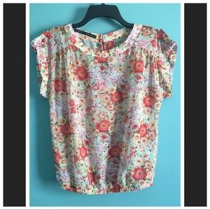 Zara Basic Floral Top 🌺🌸
